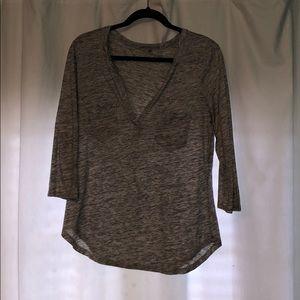 light gray top